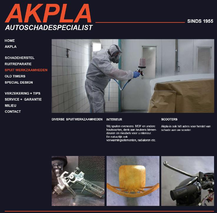 Akpla spuitwerkzaamheden